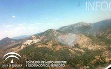 El incendio forestal en Segura de la Sierra afecta a 2,5 hectáreas de matorral y arbolado