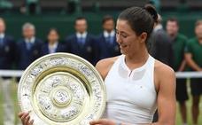 Los récords de Muguruza con su Wimbledon