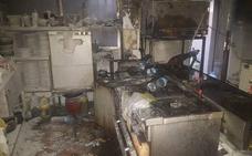Incendio en la cocina de un bar en Monte Lope Álvarez