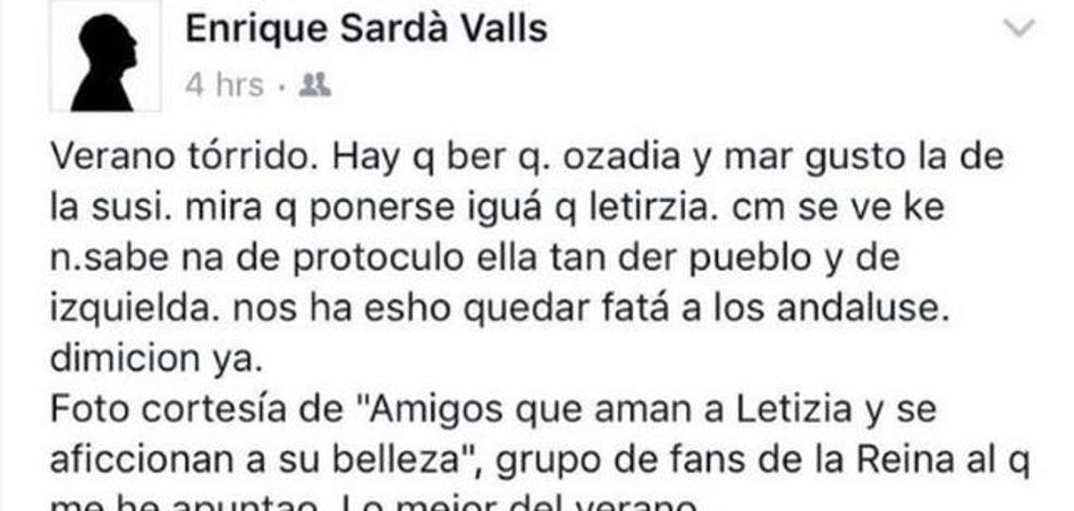 El cónsul de España en Washington ridiculiza a Susana Díaz por vestir como la Reina Letizia