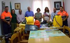 La Junta entrega equipos de protección y ayuda contra incendios a voluntarios en Huétor Santillán
