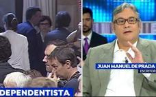 Un tertuliano de 'Espejo público' compara el referéndum catalán con la esclavitud o la pederastia