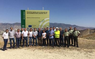 La Junta invertirá 500.000 euros en recuperar zona afectada por incendio de Quesada