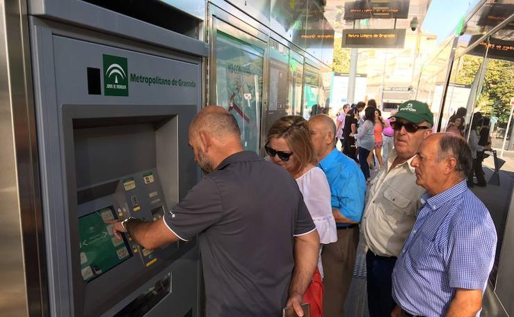 El primer día del metro de Granada, en imágenes