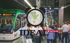 ¿Cuánto tardas en llegar de casa al trabajo usando el metro de Granada?
