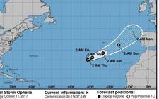 Ofelia: el huracán que podría llegar la próxima semana a España