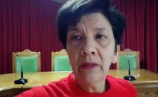 La mujer del ex alcalde de Huesa se encierra en el salón de plenos