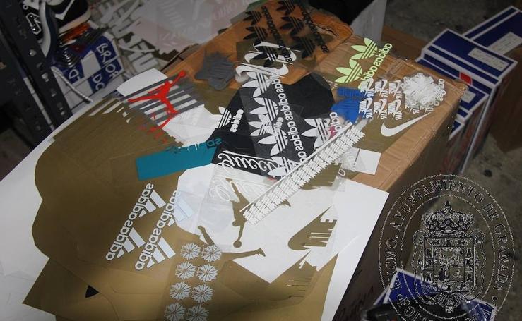Así trabajaban en el taller de falsificaciones de primeras marcas de Granada