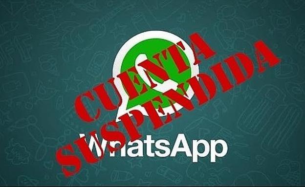 Resultado de imagen para whatsapp cuenta bloqueada