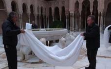 Así cuidan la Alhambra cada noche en invierno cuando todo el mundo se va