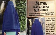 Ágatha Ruiz de la Prada va con un burka para firmar su divorcio