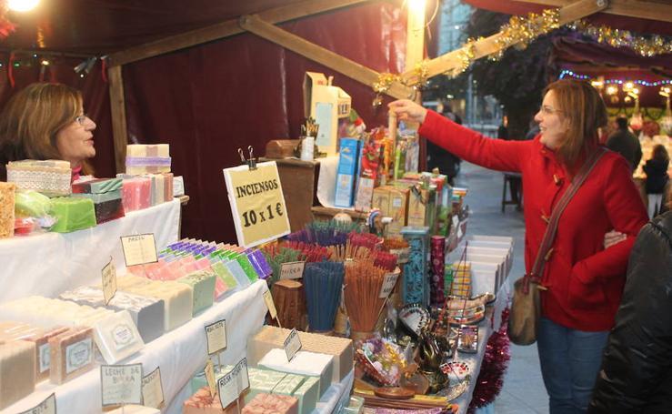 El tradicional mercado navideño de Jaén