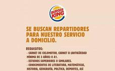 La viral oferta de trabajo de Burger King en la que piden saber cantar