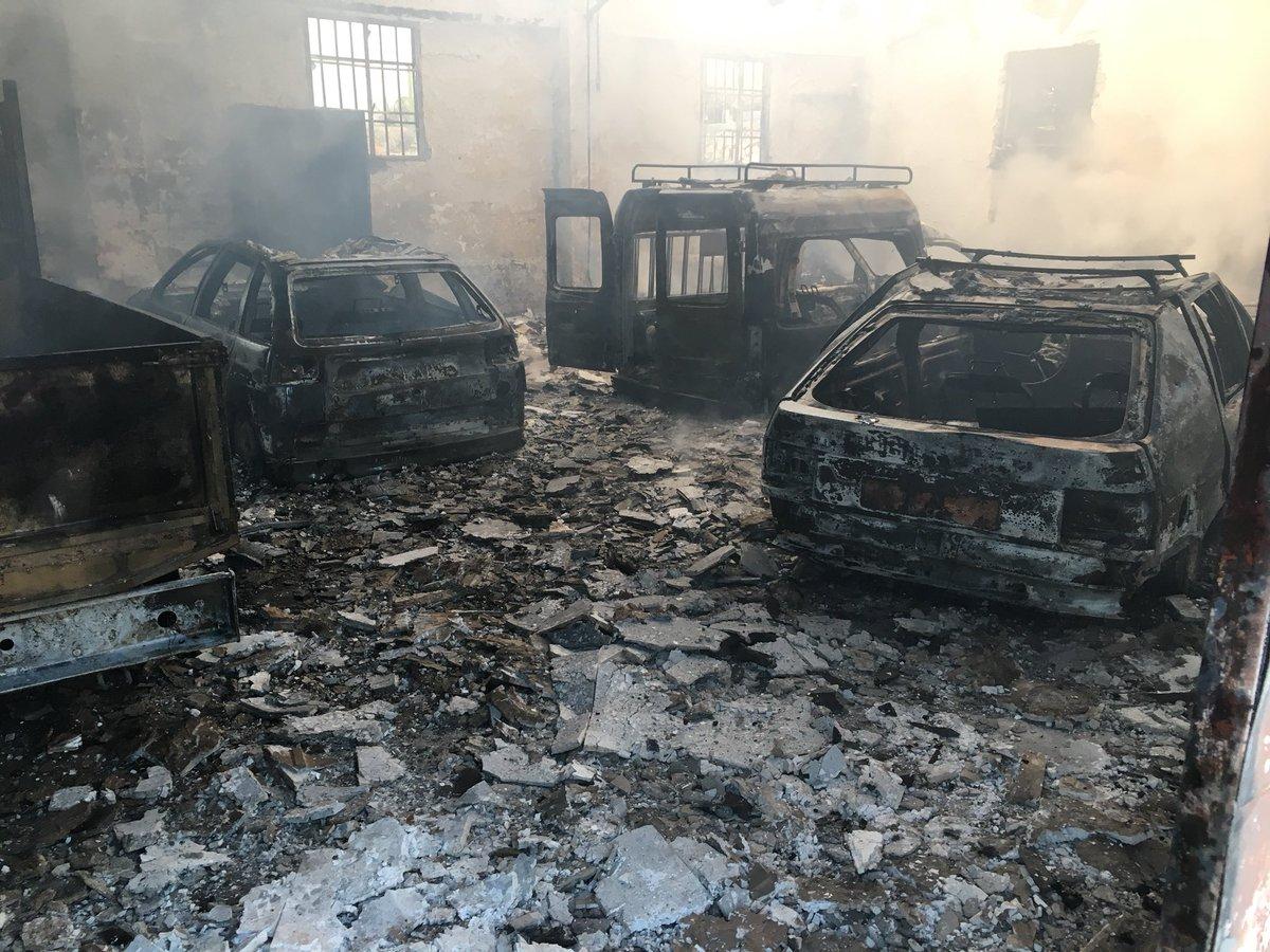 Incendio en una nave municipal en Jaén