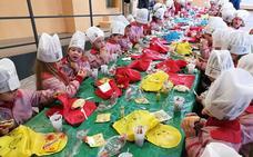 Desayuno saludable para 400 alumnos del centro Andrés de Vandelvira