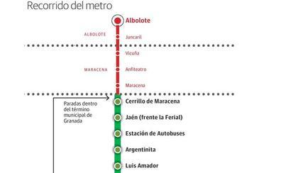 Así funcionará el sistema de transbordos del metro de Granada: en qué paradas será gratis el cambio al bus y en cuáles no