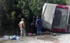 Mueren doce turistas en un accidente en el Caribe mexicano