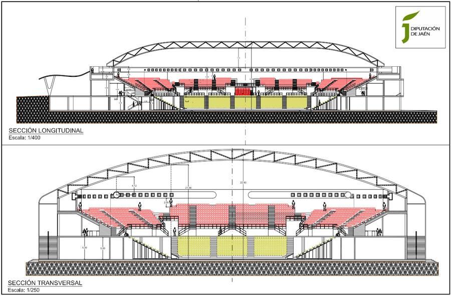 Los planos del Olivo Arena de Jaén