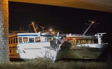 Al menos 27 heridos al chocar un crucero contra un puente en el Rin