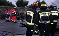 Dos fallecidos en una colisión frontal en Martos