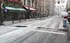 Problemas para circular en Granada por la nieve