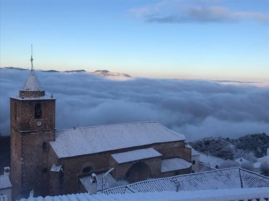 Las imágenes de la primera gran nevada del año