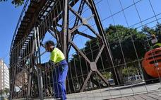 Se inician las obras en el Cable Inglés para evitar riesgos de caída