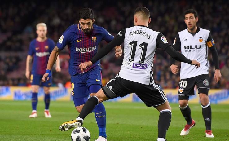 Las mejores imágenes del Barcelona-Valencia