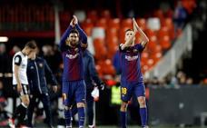 El autocar del Barça recibió el impacto de una piedra al salir de Mestalla