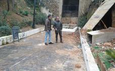 Derrumbe junto al aparcamiento del Almendral en Jaén