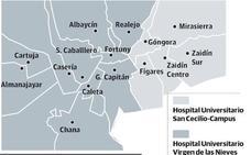 ¿Qué hospital de Granada me corresponde?