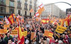 Tabarnia se manifiesta en Barcelona