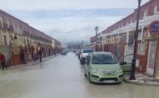 El arroyo El encantado se desborda otra vez en Villanueva de la Reina