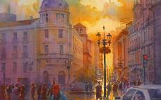 Las bellísimas acuarelas de Granada de un famoso pintor inglés que sorprenden a las redes