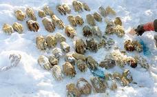 Aparecen unas misteriosas bolsas con 26 pares de manos
