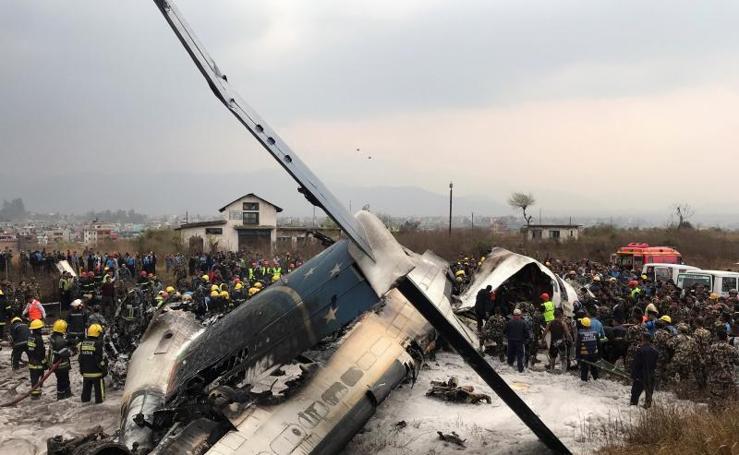 El accidente aéreo en Nepal