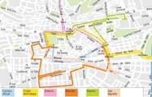 Guía del Lunes Santo en Granada: mapa de itinerarios, recorridos y horarios de las procesiones
