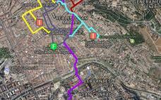 Todos los cortes de tráfico por el Lunes Santo en Granada: calles cerradas y cambios en los autobuses