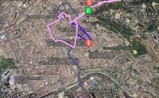 Todos los cortes de tráfico por el Martes Santo en Granada: las calles prohibidas al tráfico y cambio en transporte público