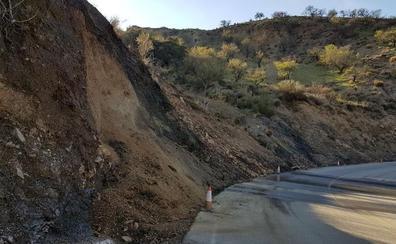 El temporal deja carreteras empantanadas por toda Granada