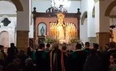 La lluvia impidió procesiones del Viernes de Dolores