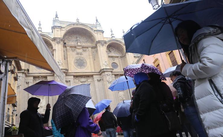 Domingo más de paraguas que de 'ramos'