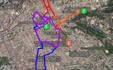 Cortes de tráfico por el Domingo de Resurrección en Granada: cambios de autobuses y calles cerradas