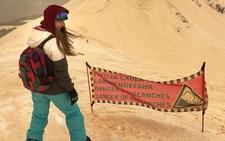 La 'guerra' entre el desierto y la nieve deja una estampa de Marte