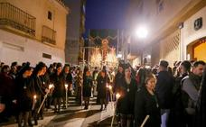 Fervor nazareno en el motrileño Camino de las Cañas