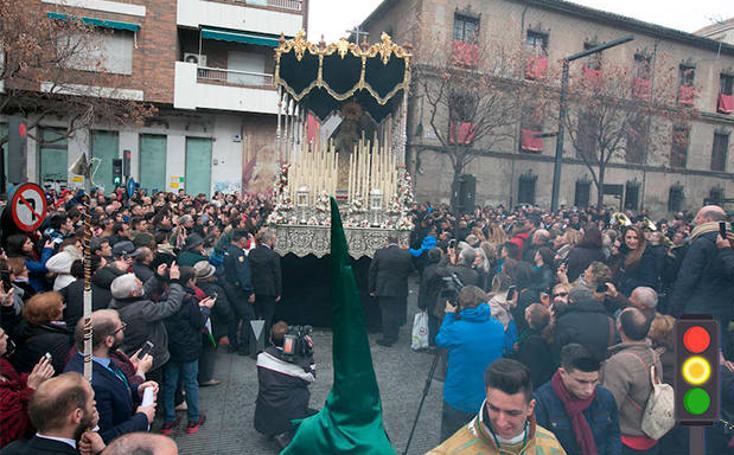 El semáforo de la Semana Santa de Granada