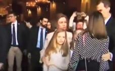 El vídeo que muestra la pelea entre doña Sofía y la reina Letizia por una foto con sus hijas