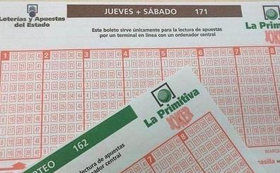El segundo premio de la primitiva cae en Almería