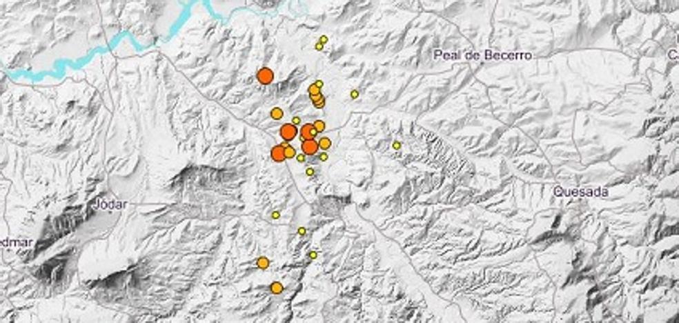Siete terremotos más en Jódar, Larva y Peal