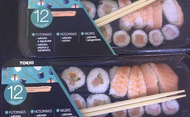 el sushi de salmon engorda